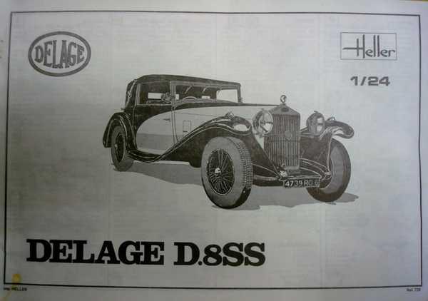 Delage D.8 SS (Heller) 1/24/Vitrine Chanel Dsc03543