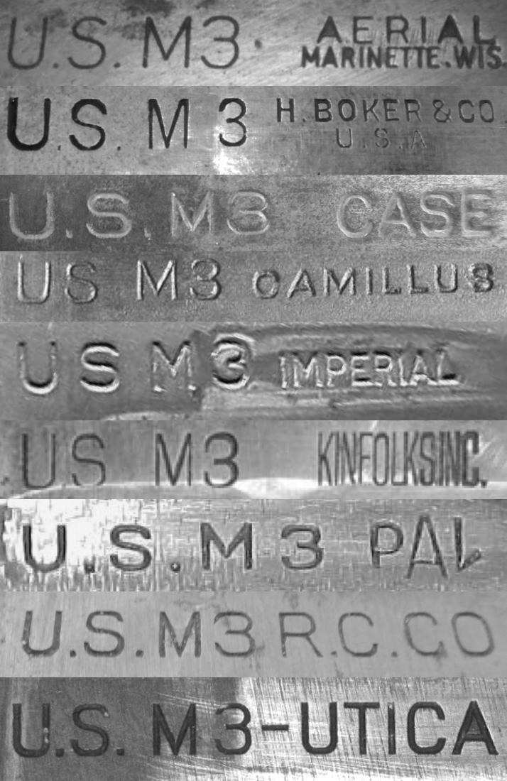 LE COUTEAU DE COMBAT US WWI ET WWII ET LES FOURREAUX.   M3-tre10