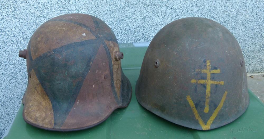 """Aide à l'identification paire de casques """"Normandie"""" 19-52-10"""