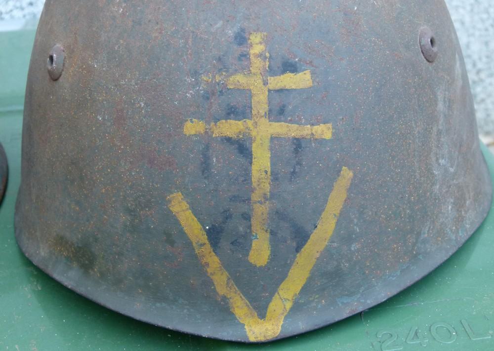 """Aide à l'identification paire de casques """"Normandie"""" 19-52-11"""