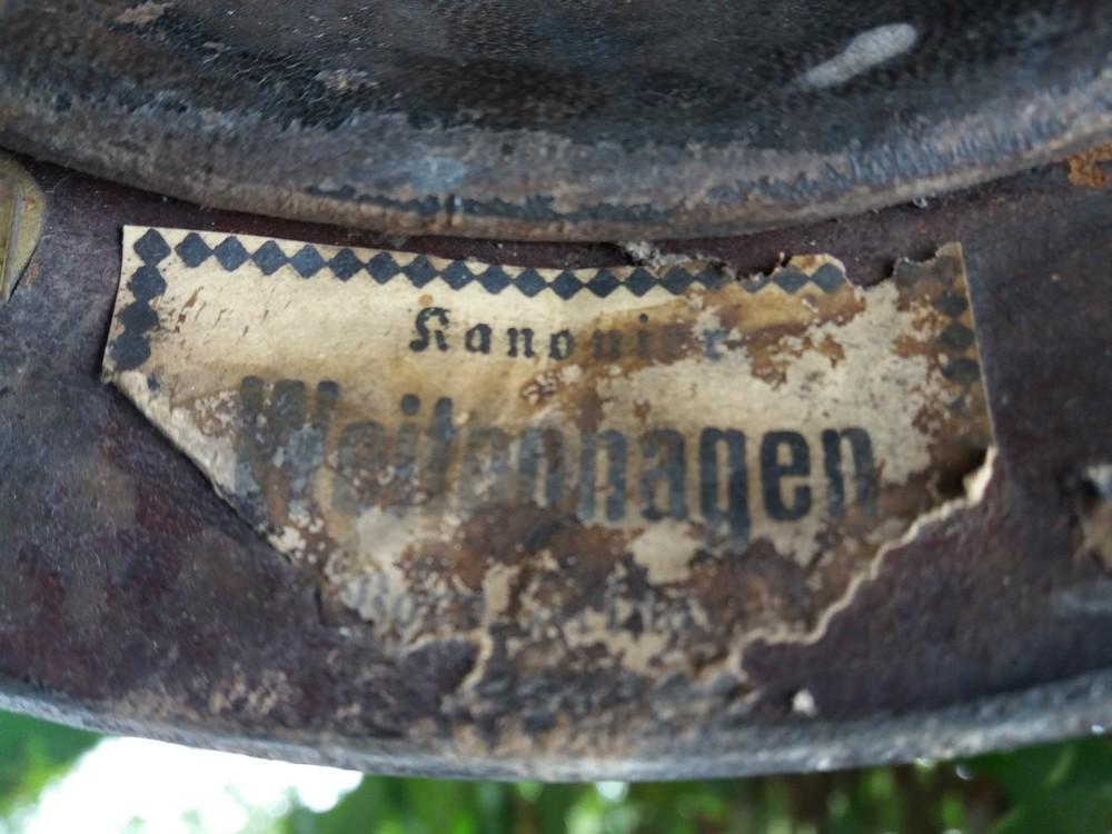 Casque du Kanonier  Franz Weitenhagen 2ème batterie FAR 38 Far38_23