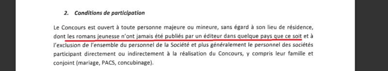 4ème édition du concours premier roman jeunesse chez Gallimard  Condit10