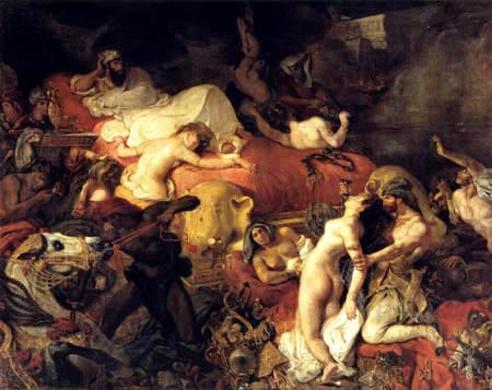 La muerte de Sardanápalo. Eugene Delacroix 0246-010