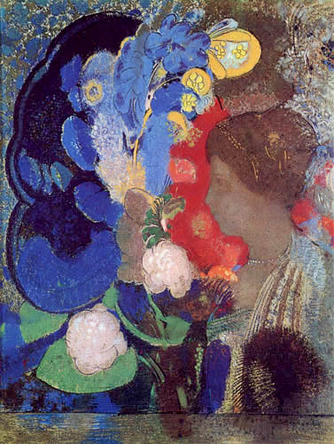 Mujer entre las flores. Odilon Redon 0338-010