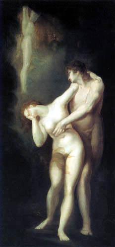 La despedida de Adán y Eva del paraíso. Heinrich Füssli 0445-011