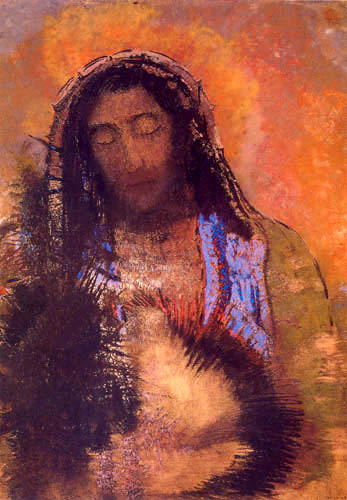 El Sagrado Corazón de Jesús Buda. Odilon Redon  0490-010