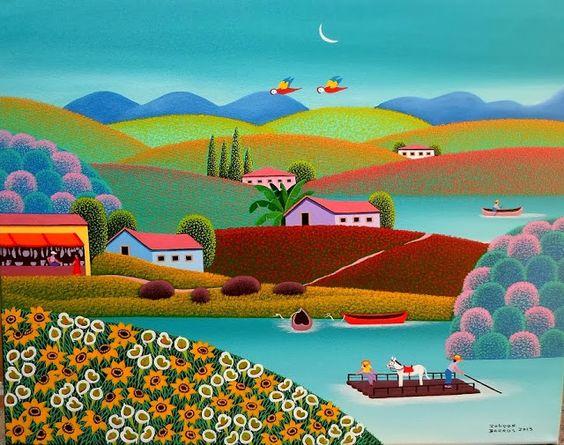 Robson Barros, pintura Naif 15ee8010