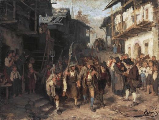 'the rebellion or the last reserve'. Franz von Defregger  1defre10