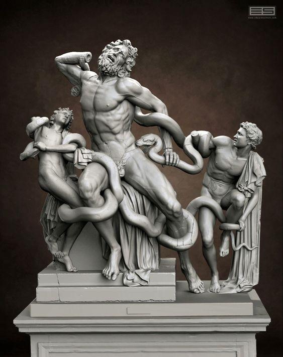 Lacoonte y sus hijos. Agesandro, Polidoro y Atenodoro de Rodas 385d8310