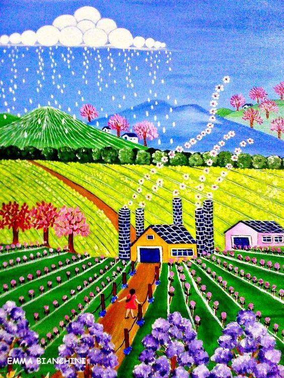 Pintura Naif de Emma Bianchini 8251b710