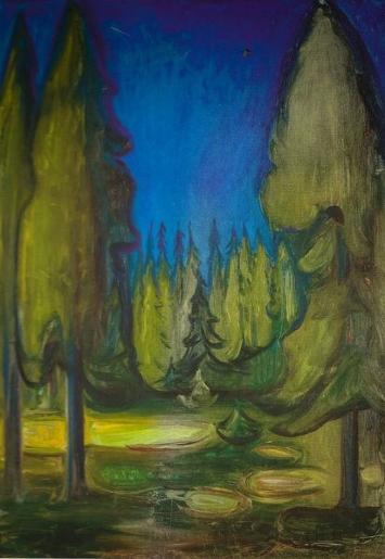 Bosque de abetos oscuros. Edvard Munch 859fe910