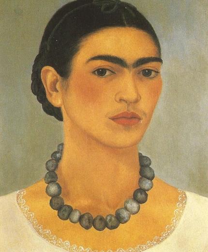 Autorretrato con collar. Frida Kahlo  91579710