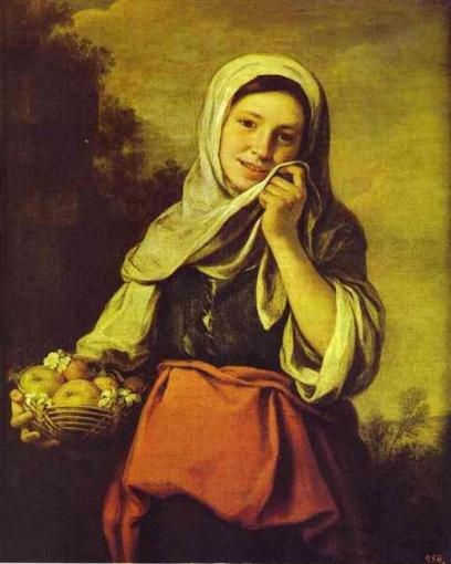 Niña con frutas. Bartolomé Esteban Murillo A-girl12