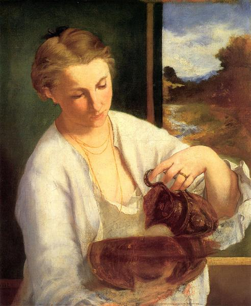 Una mujer virtiendo agua de Edouard Manet A-woma10