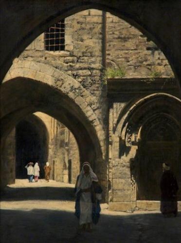 Una calle en Jerusalem. John Collier A86e4b12