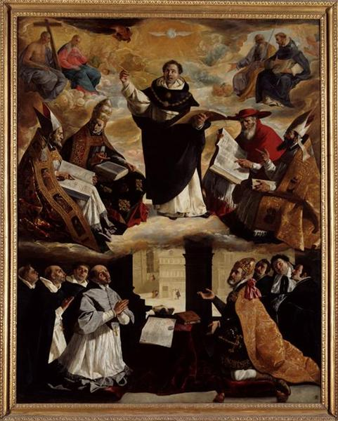 Apoteosis de St. Thomas Aquinas. Francisco de Zurbarán Apothe10
