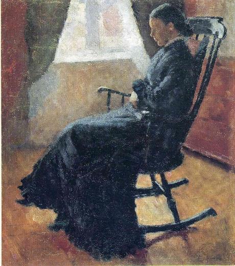 Aunt Karen in the Rocking Chair.  Edvard Munch Aunt-k10