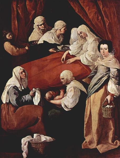 Cumpleaños de la Virgen. Francisco de Zurbarán Birth-10
