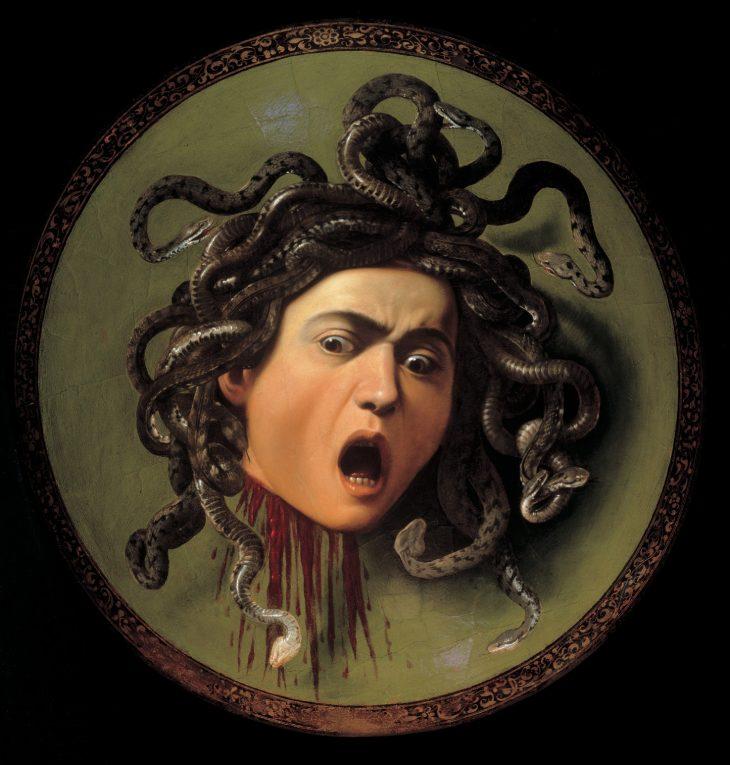 La cabeza de medusa. Caravaggio Carava10