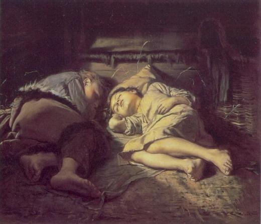 Niños Durmiendo. Vasili Perov Childr10