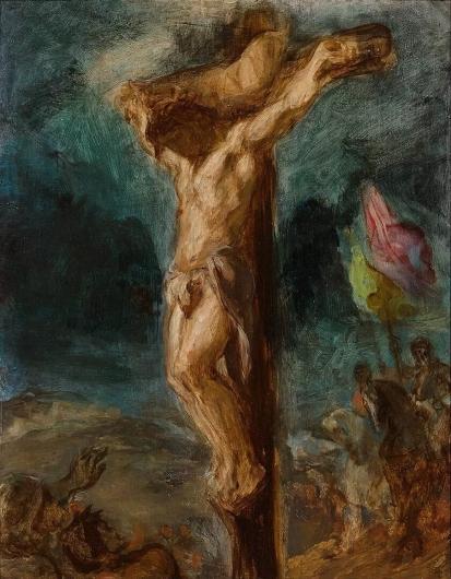 Cristo en la cruz, Eugene Delacroix Cristo14