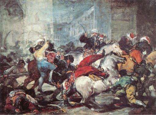 El Dos de Mayo de 1808 en Madrid. Francisco Goya El-dos10