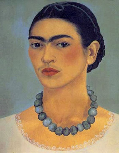 Autorretrato con collar. Frida Hahlo Frida_10