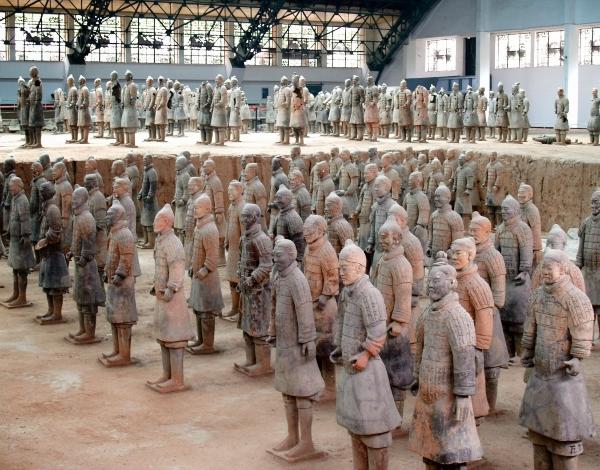 Los Guerreros de Terracota, en China, esculturas. Guerre10