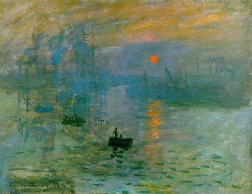 """""""Impresión, sol naciente"""" Monet Impres10"""