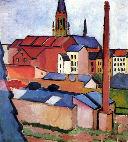 Marienkirche. August Macke Macke10