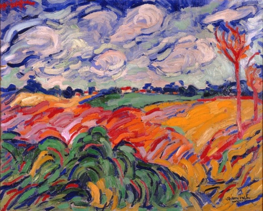 The Wheatfield. Maurice de Vlaminck  Mauric10
