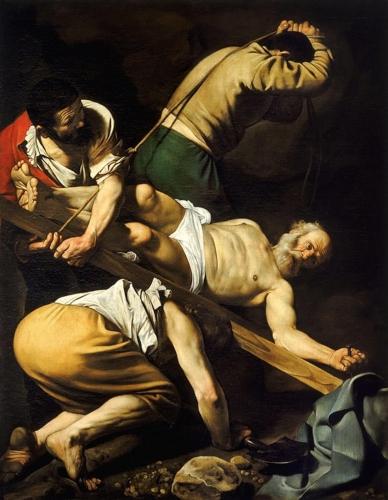 Crucificación de San Pedro, Caravaggio Michel10