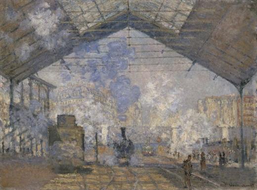 """""""La estación Saint-Lazare"""". Claude Monet Monet10"""