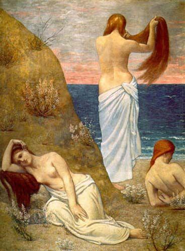 Mujeres a orillas del mar-P. Chavannes Mujere13