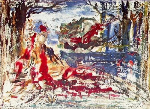 Near the Water. Gustave Moreau Near-t12