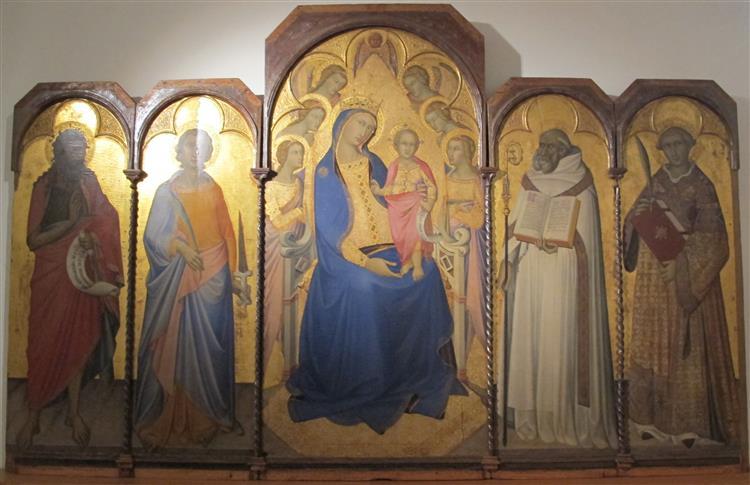 madonna in trono col bambino e angeli. Luca di Tommè Niccol10
