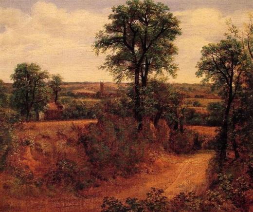 Una línea cerca de Dedham. John Constable Paisaj11