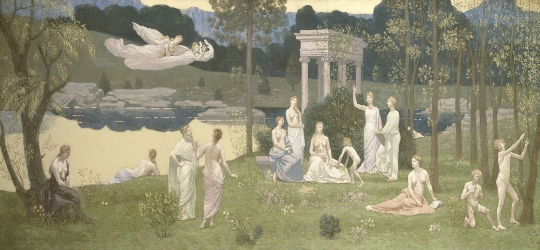 The Sacred Grove, Beloved of the Arts and the Muses. Pierre Puvis de Chavannes  Pierre13