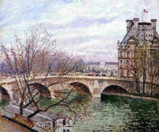 The Pont Royal and the Pavillon de Flore, Camille Pissarro Pisarr10