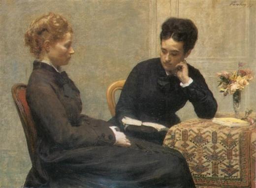 La Lectura. Henri Fantin-Latour Readin10