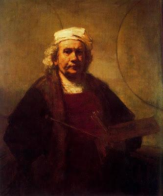 Autorretrato con dos círculos. Rembrandt Rembra10
