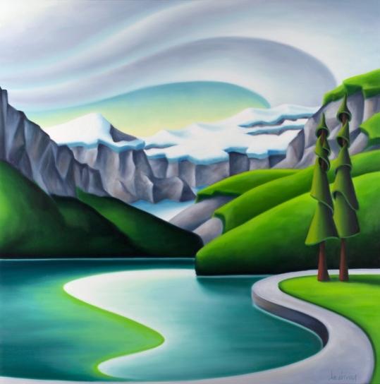 Pintura Naif de Dana Irving Reunio11