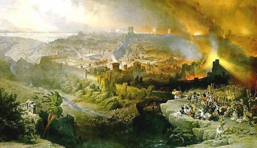 El sitio y la destrucción de Jerusalén por los romanos bajo el comando de Tito. David Roberts   Robert10