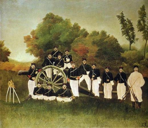 The Artillerymen. Henri Rosseau Rousse10