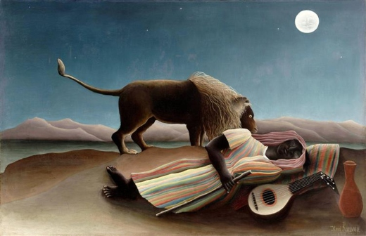 La gitana dormida. Henri Rosseau Rousse11