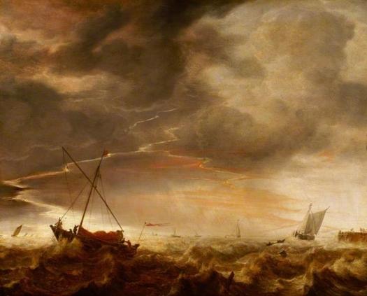 Tormenta en el mar. Simon de Vlieger Seasca11