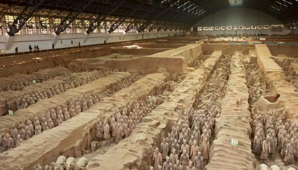 Los Guerreros de Terracota, en China, esculturas. Soldad10