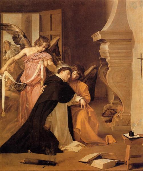 Tentación de Santo Tomás de Aquino. Diego Velázquez Tempta10