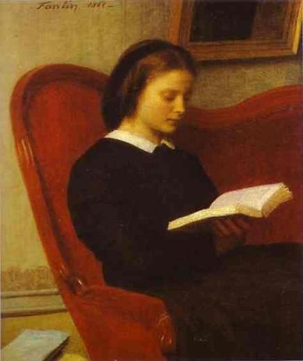 La Lectora. Henri Fantin-Latour The-re10