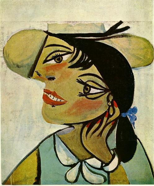 Portrait of woman in d`hermine pass (Olga). Pablo Picasso Untitl11